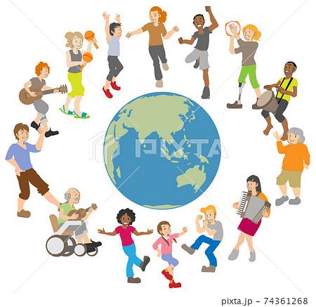 踊る 演奏する 多様性 世界の人々 74361268