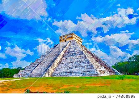 メキシコ・マヤ文明の風景 74368998