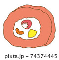 ロールケーキ イチゴ 74374445