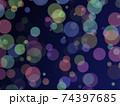 光の漂う背景 バブル ボール アブストラクト 74397685