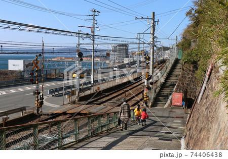 山陽電鉄 須磨浦公園駅付近の線路 74406438
