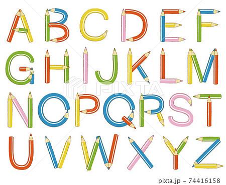 色鉛筆シリーズ(アルファベット・英語・文字) 74416158