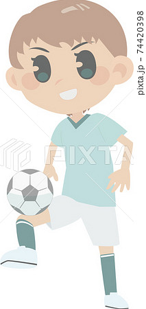 女子サッカー選手 74420398