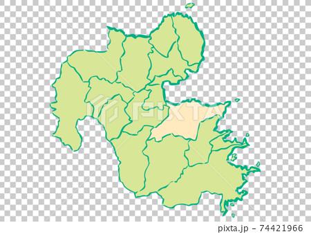 大分縣大分市縣/行政區域圖 74421966