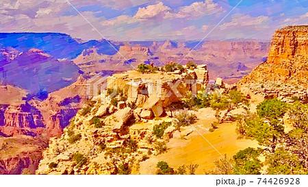 アメリカ・グランドキャニオンの風景 74426928