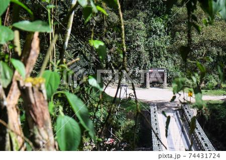 南米ペルー、アンデス山脈の氷河からジャングル地帯を歩いてマチュピチュを目指すサルカンタイトレッキング 74431724