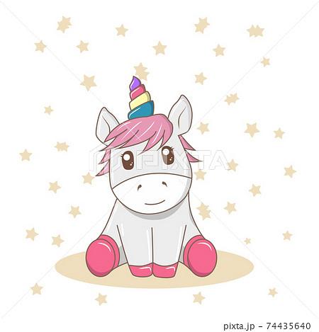 The little cute baby unicorn 74435640