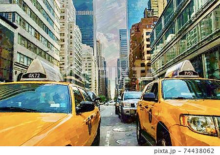 アメリカ・ニューヨークの街並み 74438062