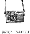 Vintage old photo camera drawn vector llustration 74441334