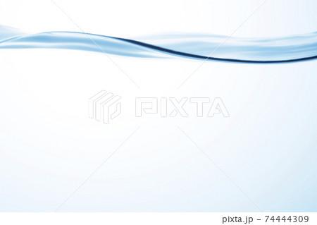 水の曲線 水が流れるカーブ背景用 74444309