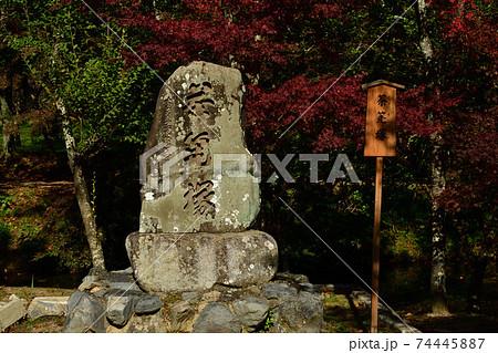 京都嵯峨野大覚寺大沢池の天神島茶筅塚 74445887