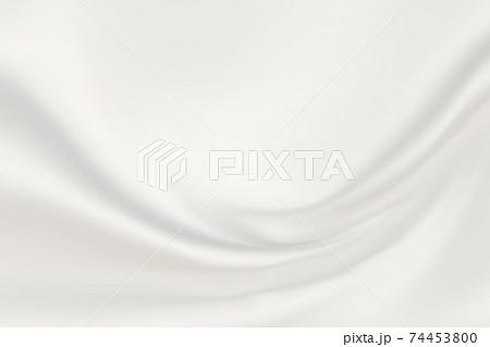モダンなシルバーホワイトのサテン生地グラフィック背景 74453800