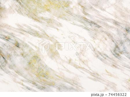 金混じり白とグレー系の大理石の背景 74456322