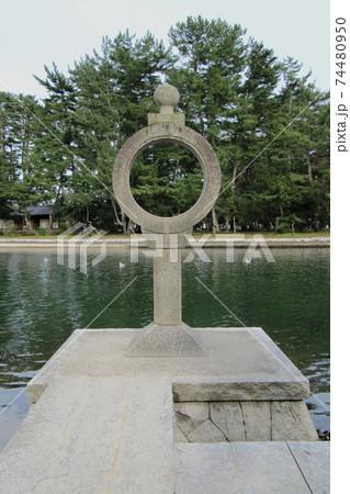 智恩寺の石灯籠(知恵の輪)/京都府宮津市 74480950