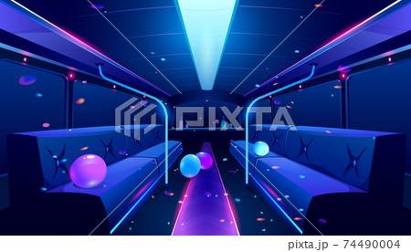 Vector nightclub interior in party bus 74490004