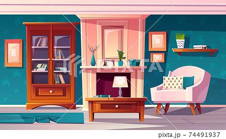Vector luxury cabinet with secretaire. Expensive interior 74491937