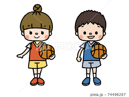 バスケットボール部員のイラスト 習い事・部活・趣味 カラー 74496267