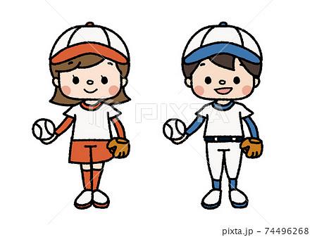 野球部員のイラスト 習い事・部活・趣味 カラー 74496268