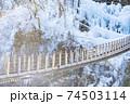 尾ノ内氷柱 氷柱 吊り橋 74503114