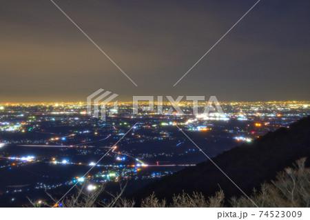 <茨城県>筑波山頂から望む関東平野の夜景 74523009