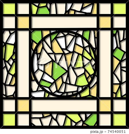 切り絵風ステンドグラス 74540051