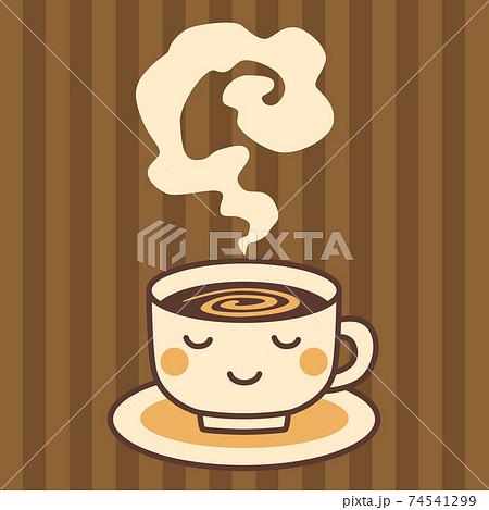 コーヒーイラスト ホットドリンク 74541299