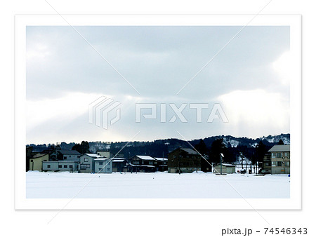 フィルム写真 新潟の雪景色 74546343