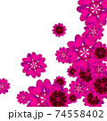 Pink vector geometric background, abstract design for poster, brochure template 74558402