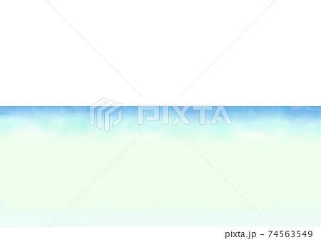 海のイメージの水彩テクスチャ 74563549