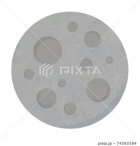 水星のイラスト 太陽系惑星 手書き風 74563584