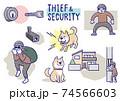 泥棒とセキュリティ 74566603