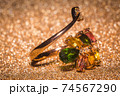 Gold ring with tourmaline 74567290