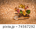 Gold ring with tourmaline 74567292