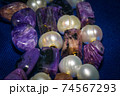 Charoite and pearls 74567293