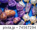 Charoite and pearls 74567294