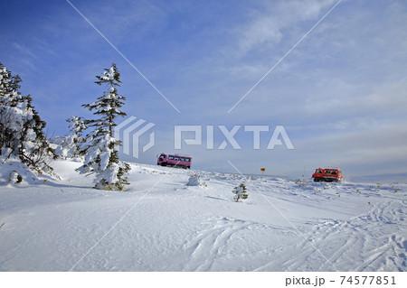 1月 長野県側から渋峠に向かう雪上車 74577851