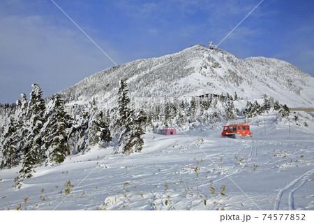 1月 渋峠から横手山を見る 74577852