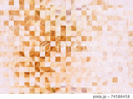 ピンクよりの茶色のモザイクテクスチャ 抽象的な和紙の背景素材 74586458