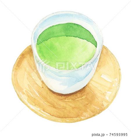 日本茶 緑茶 【手描き水彩画】 74593995