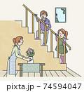 階段のあるリビング 74594047
