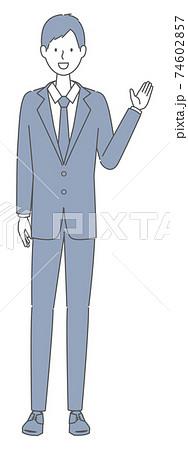 案内する スーツを着た男性 74602857