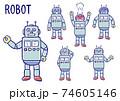 ロボット表情セット 74605146