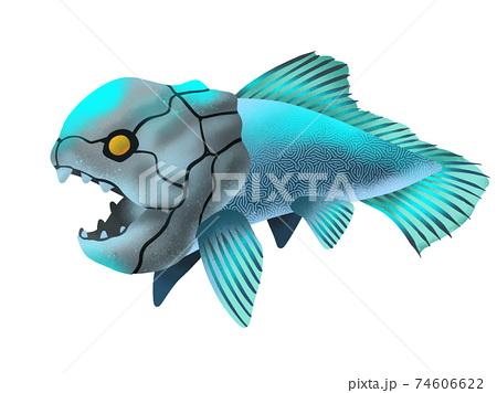 古代の深海魚のイラスト 74606622