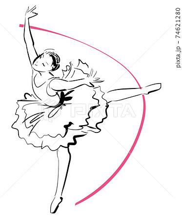 バレエを踊る女性 74621280