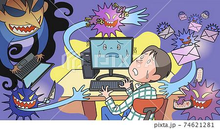 コンピューターウイルスに感染する 74621281