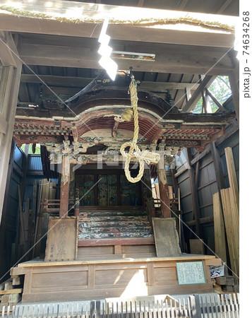 江戸時代に建てられた神社の旧本殿 74634268
