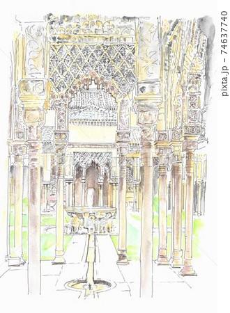 世界遺産の街並み・スペイン・アルハンブラ宮殿 74637740
