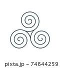 thin line triskelion symbol icon 74644259
