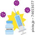 ワクチン 予防接種 74653077