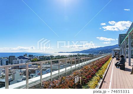 【神奈川県】ミナカ小田原の屋上から見える街並み 74655331